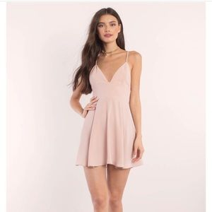 light rose mini dress